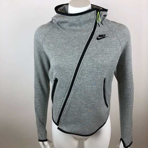 7f9987d4c162 Nike Tech Fleece Butterfly Hoodie Asymmetric Zip. M 5b712ae21b16db7bbbf18e48